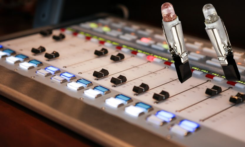 Slide Base LED bulbs for audio consoles and switches