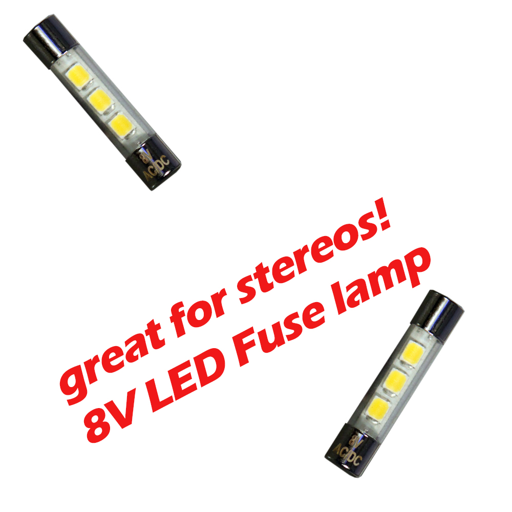 Fuse LED Lamp great for incandescent T2 fuse lamp replacement