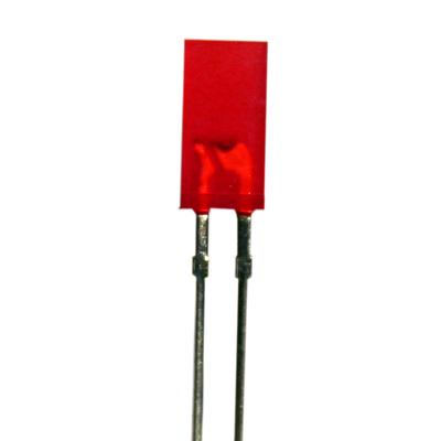 2.5 x 5mm Rectangular LED Red High Intensity